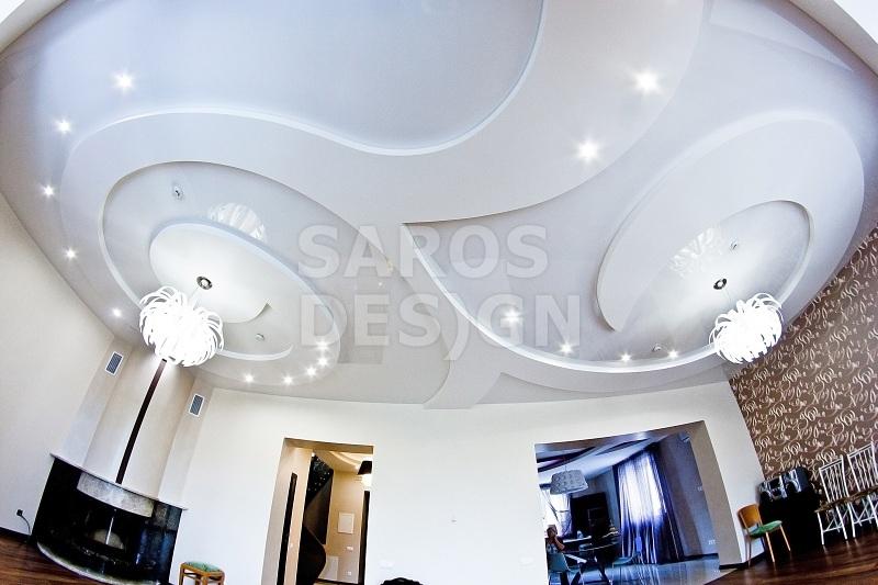 Двухуровневый потолок на кухне: натяжной, из гипсокартона и ... | 533x800